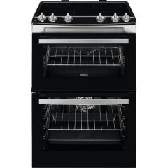 Zanussi ZCV66050XA 60cm Ceramic Electric Cooker with Double Oven Stainless Steel