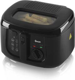 Swan SD6080BLKN  2.5 Litre Deep Fat Fryer-Black