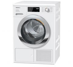 Miele TEF765WP 8kg EcoSpeed Heat Pump Tumble Dryer - Chrome Edition