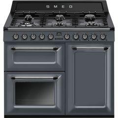 Smeg TR103GR Victoria Range 100cm Dual Fuel Cooker - Slate Grey
