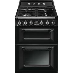 Smeg TR62BL 60cm Victoria Style Dual Fuel Cooker-Black