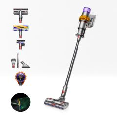 Dyson V15 ABSOLUTE Detect 369372-01 Vacuum Cleaner - Yellow/Iron/Nickel