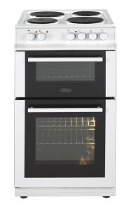 Belling FS50ETWH Electric Cooker with Solid Plate Hob - White