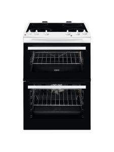 Zanussi ZCV66050WA 60cm Ceramic Electric Cooker with Double Oven White
