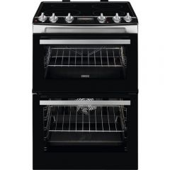 Zanussi ZCI66278XA 60cm Electric Double Oven with Induction Hob - Stainless Steel *DISPLAY MODEL*