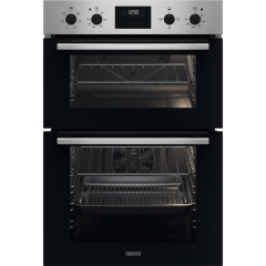 Zanussi ZKCXL3X1 56cm Built In Electric Double Oven - Stainless Steel