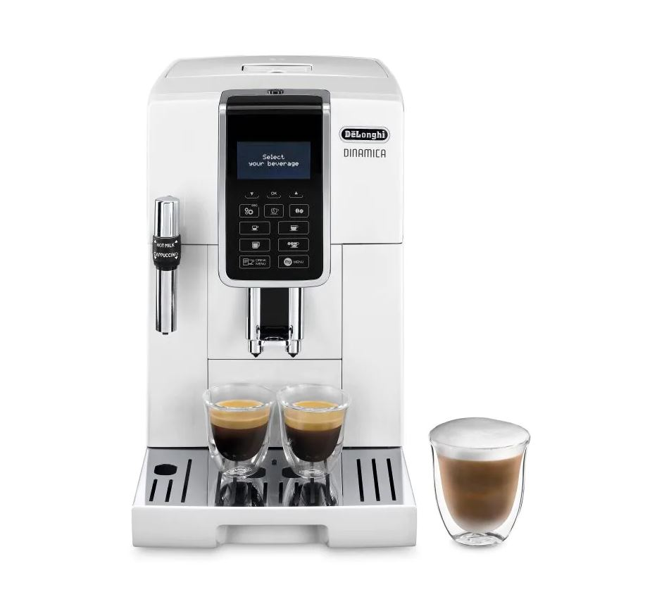 Delonghi ECAM350.35.W Dinamica Automatic Coffee Maker - White