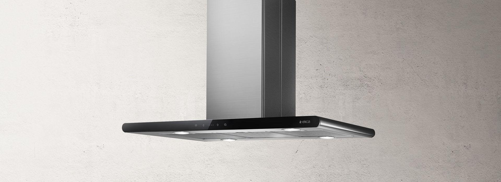 Elica GALAXYISLANDBL 90x45cm Galaxy Island Hood Stainless Steel & Black