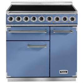 Falcon Deluxe 900 F900DXEICA/N-EU Induction China Blue/Nickel Range Cooker