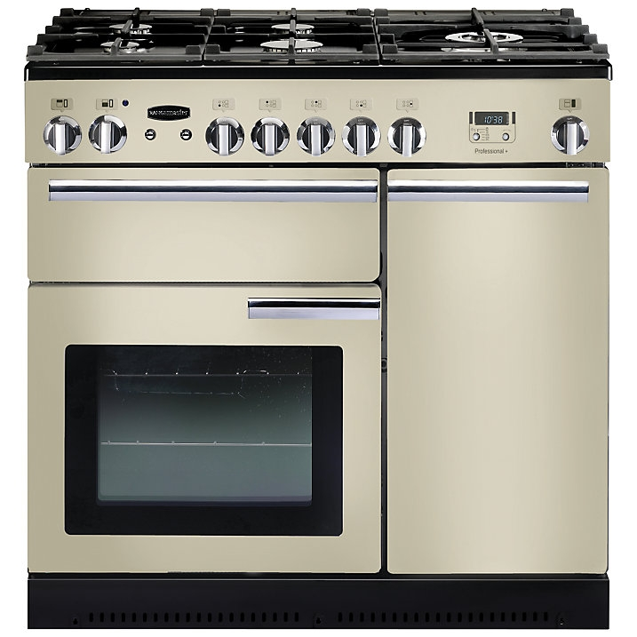 Rangemaster PROP90NGFCR/C Professional+ 90 Gas Range Cooker, Cream
