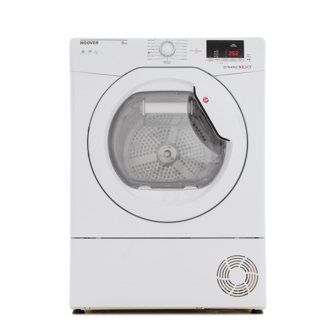 Hoover DXC8DE Condenser Tumble Dryer with 8kg Load Capacity White
