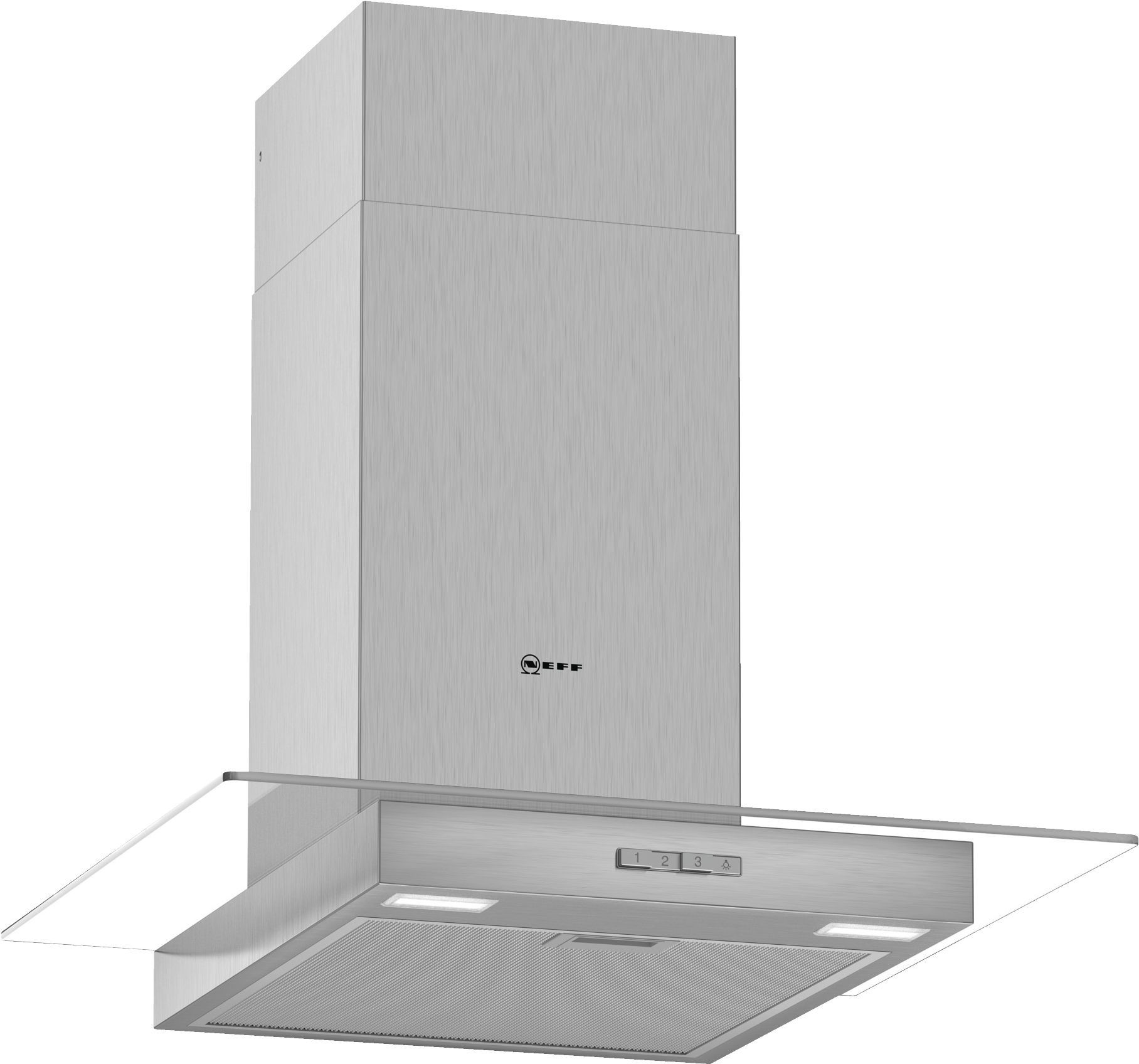 Neff D64GBC0N0B 60cm Flat Design Chimney Cooker Hood - Stainless Steel