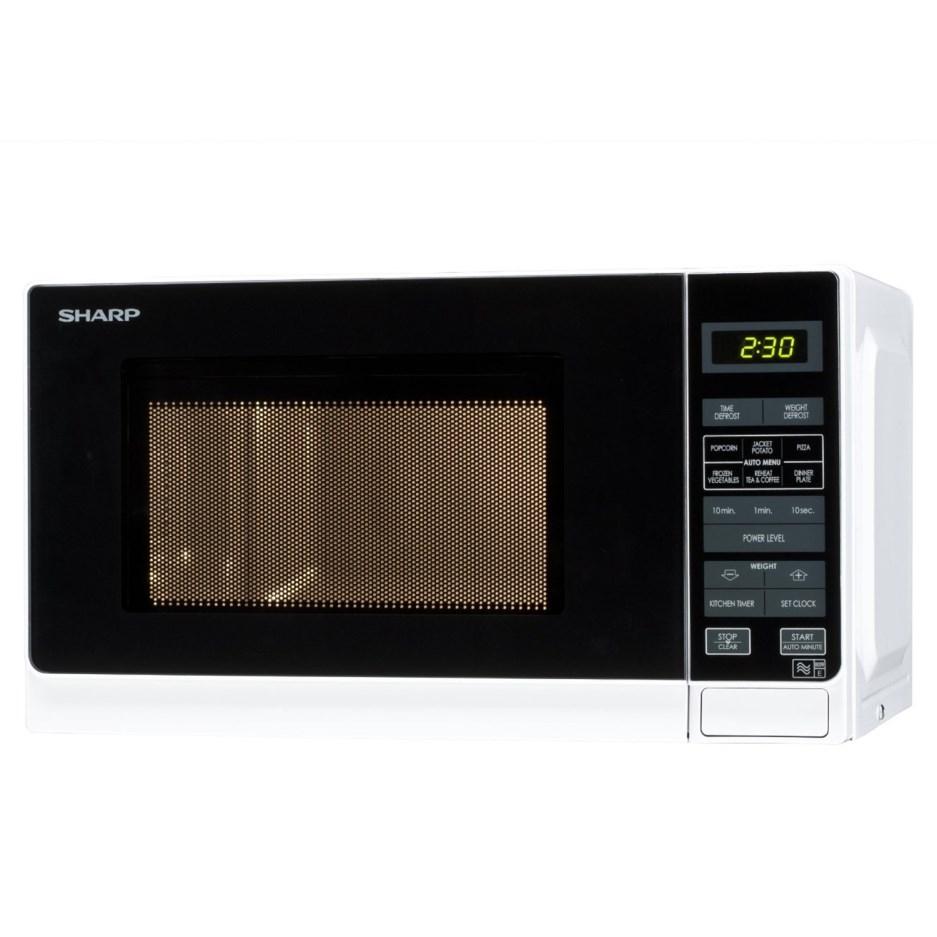 Sharp R272WM 20L 800W Freestanding Microwave in White