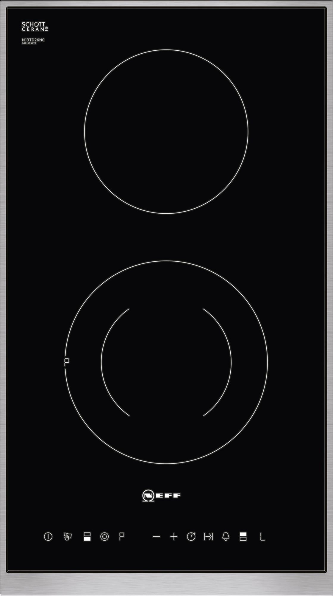 Neff N13TD26N0 30cm Domino electric hob - Black