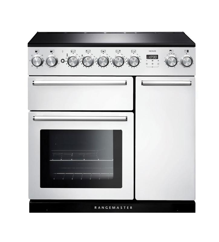 Rangemaster NEX90EIWH/C Nexus 90 Induction Range Cooker, White