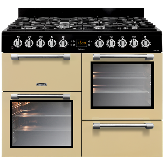 Leisure CK100F232C 100cm Cookmaster Dual Fuel Range Cooker-Cream