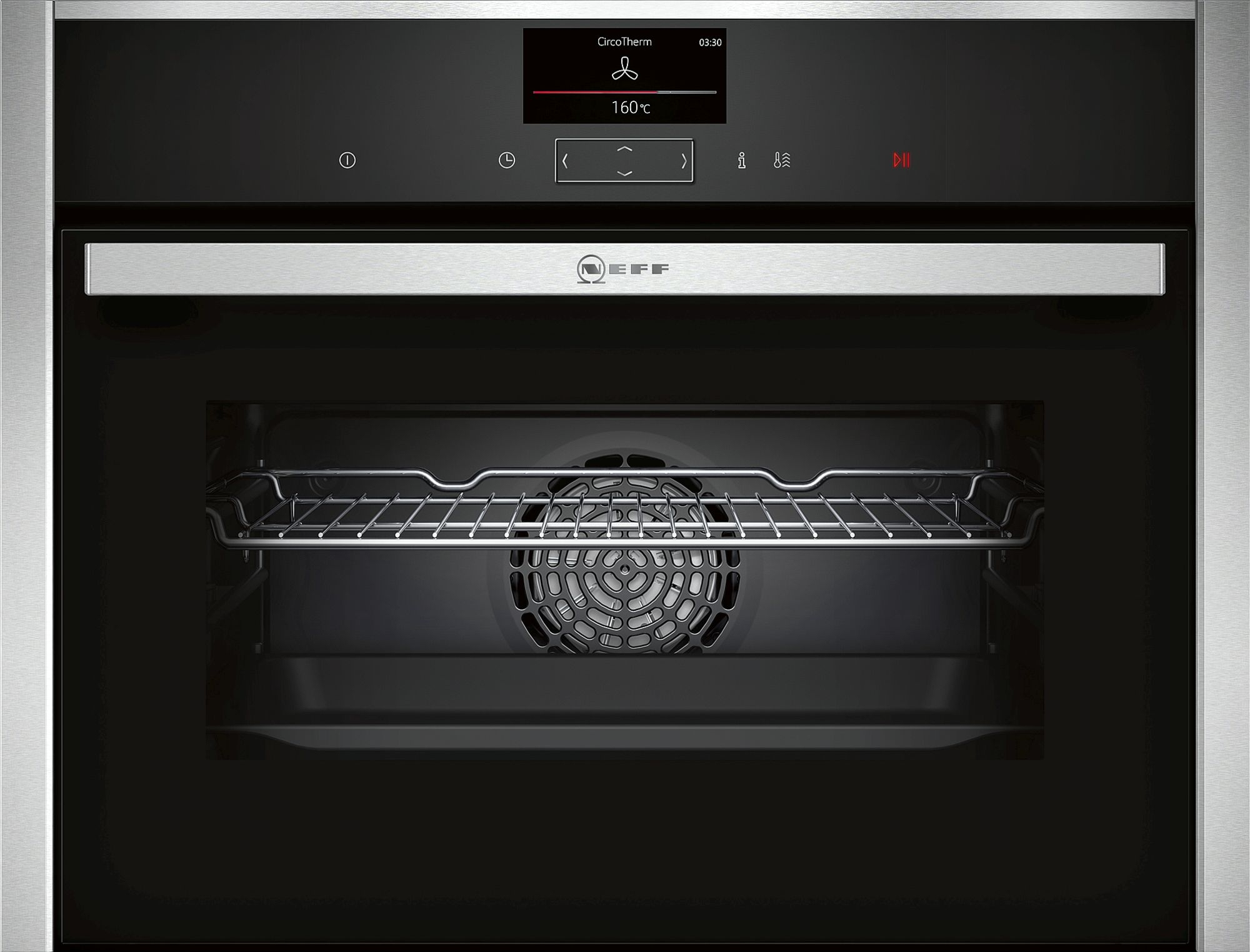 Neff C27CS22H0B 45cm Built-in Compact Oven Stainless Steel