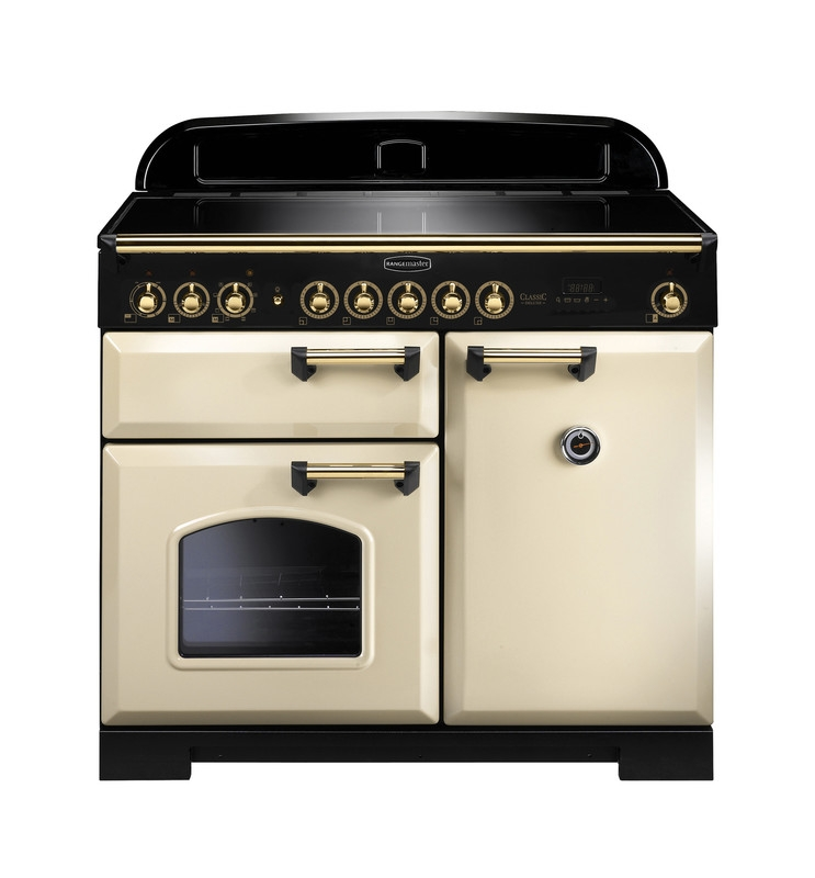 Rangemaster CDL100EICR/B Classic Deluxe 100 Electric Induction Cream/Brass