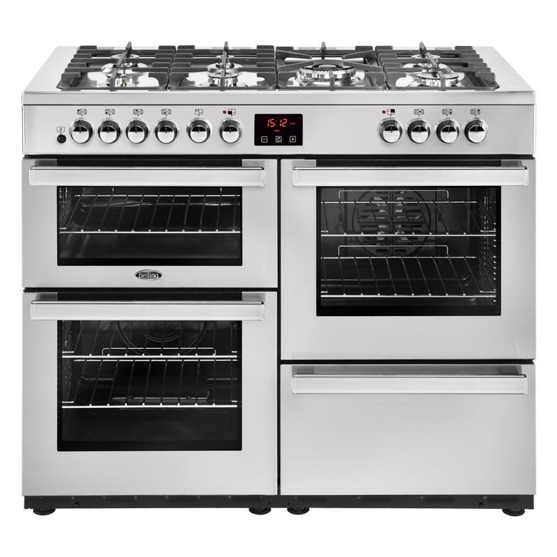 Belling Cookcentre 110DFTPROFSTA 110cm Dual Fuel Range Cooker-Professional - Stainless Steel