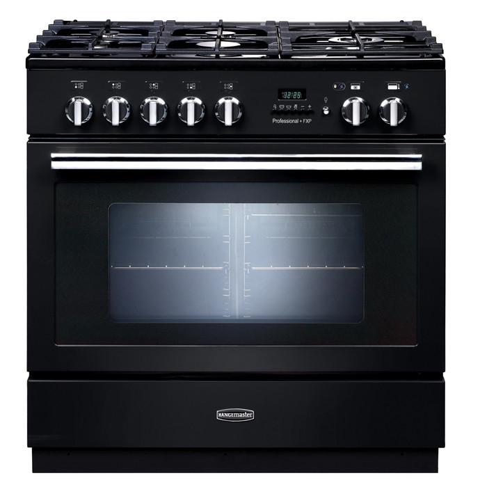 Rangemaster PROP90FXPDFFGB/C Professional Plus FXP 90 Dual Fuel Range Cooker Black