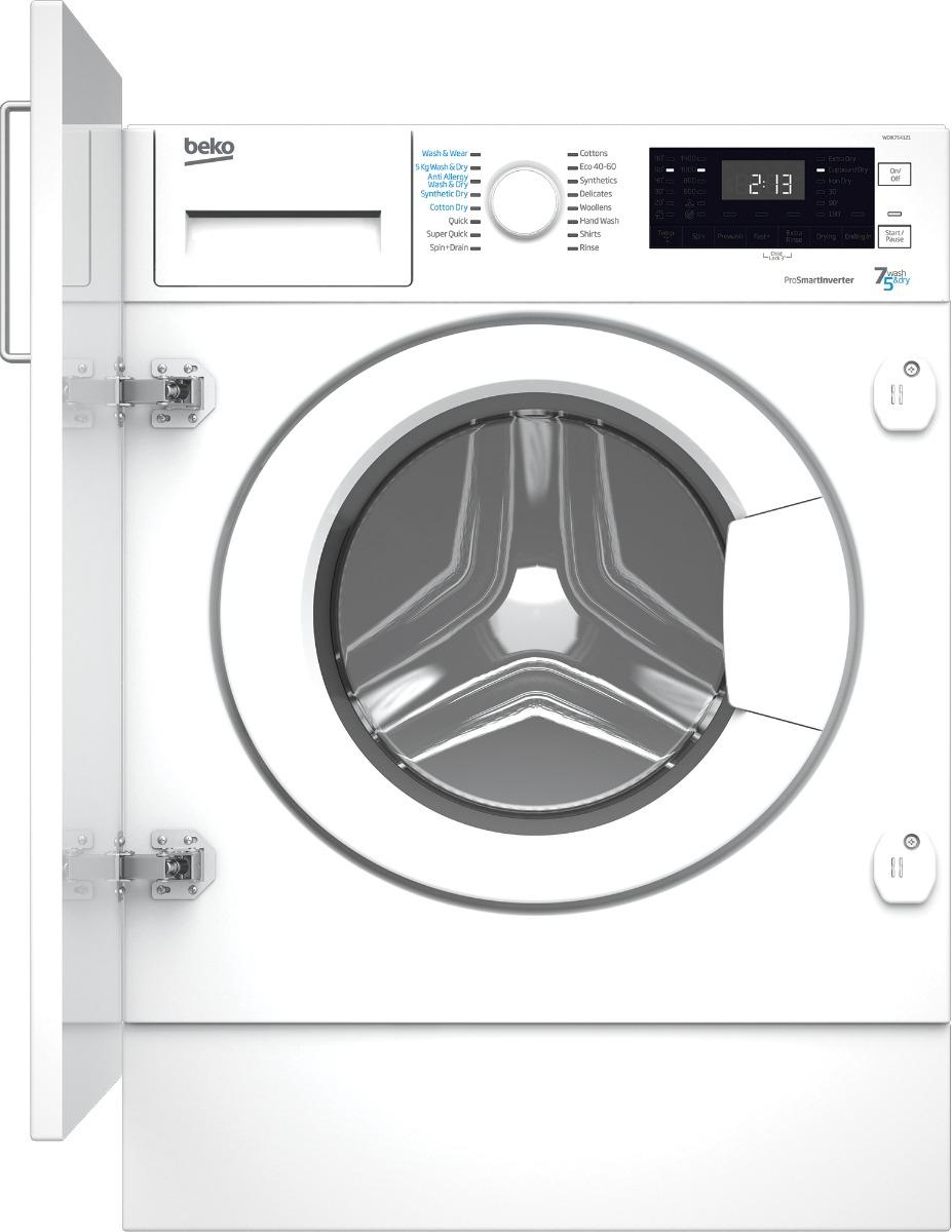 Beko WDIK754121 Integrated Washer Dryer 7Kg 5Kg Capacity