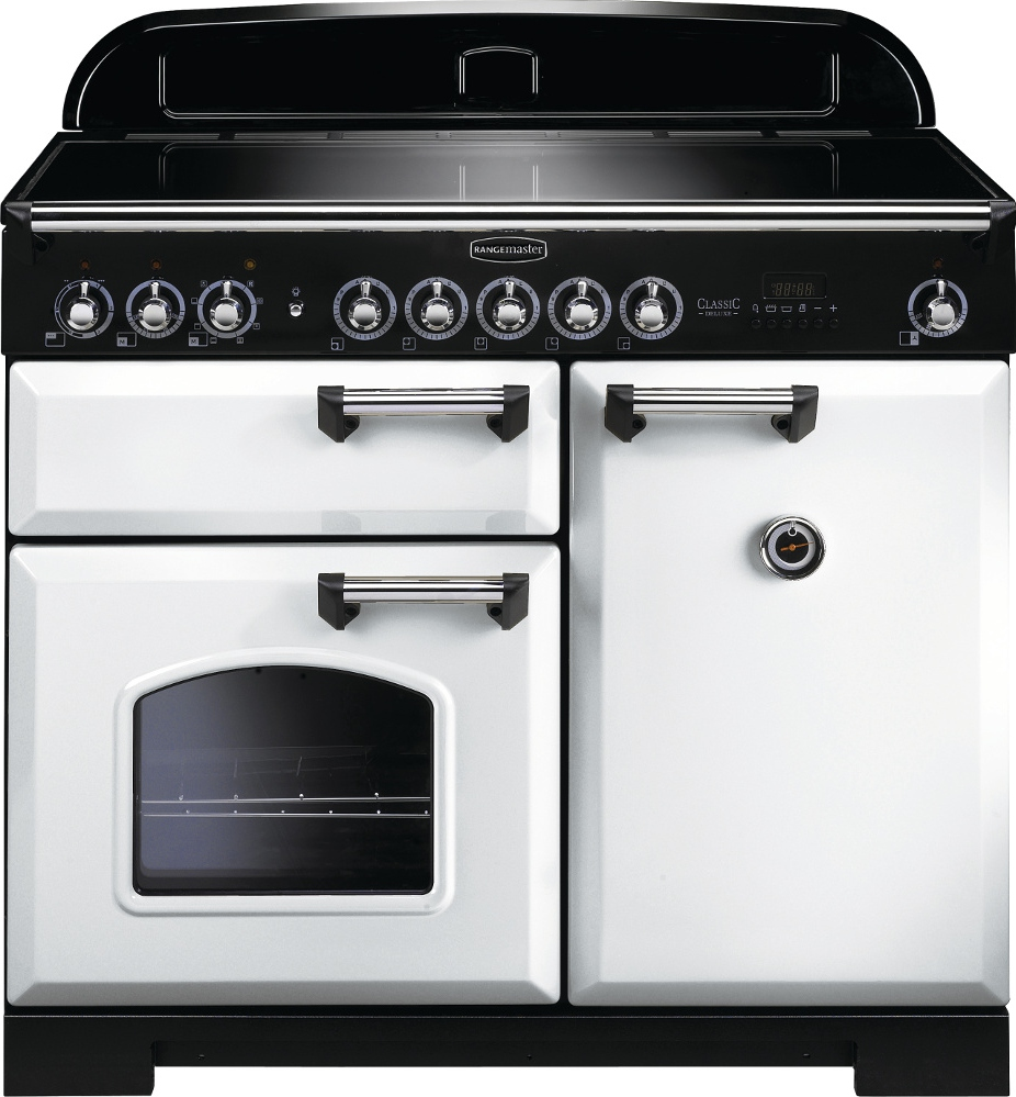 Rangemaster CDL100EIWH/C Classic Deluxe 100 Electric Induction White