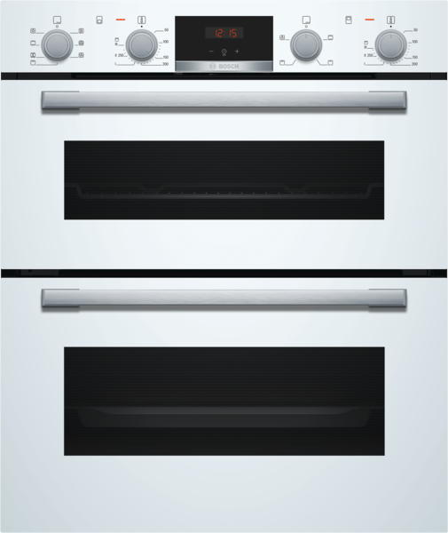 Bosch NBS533BW0B Built-in Double Multi-Function Oven White