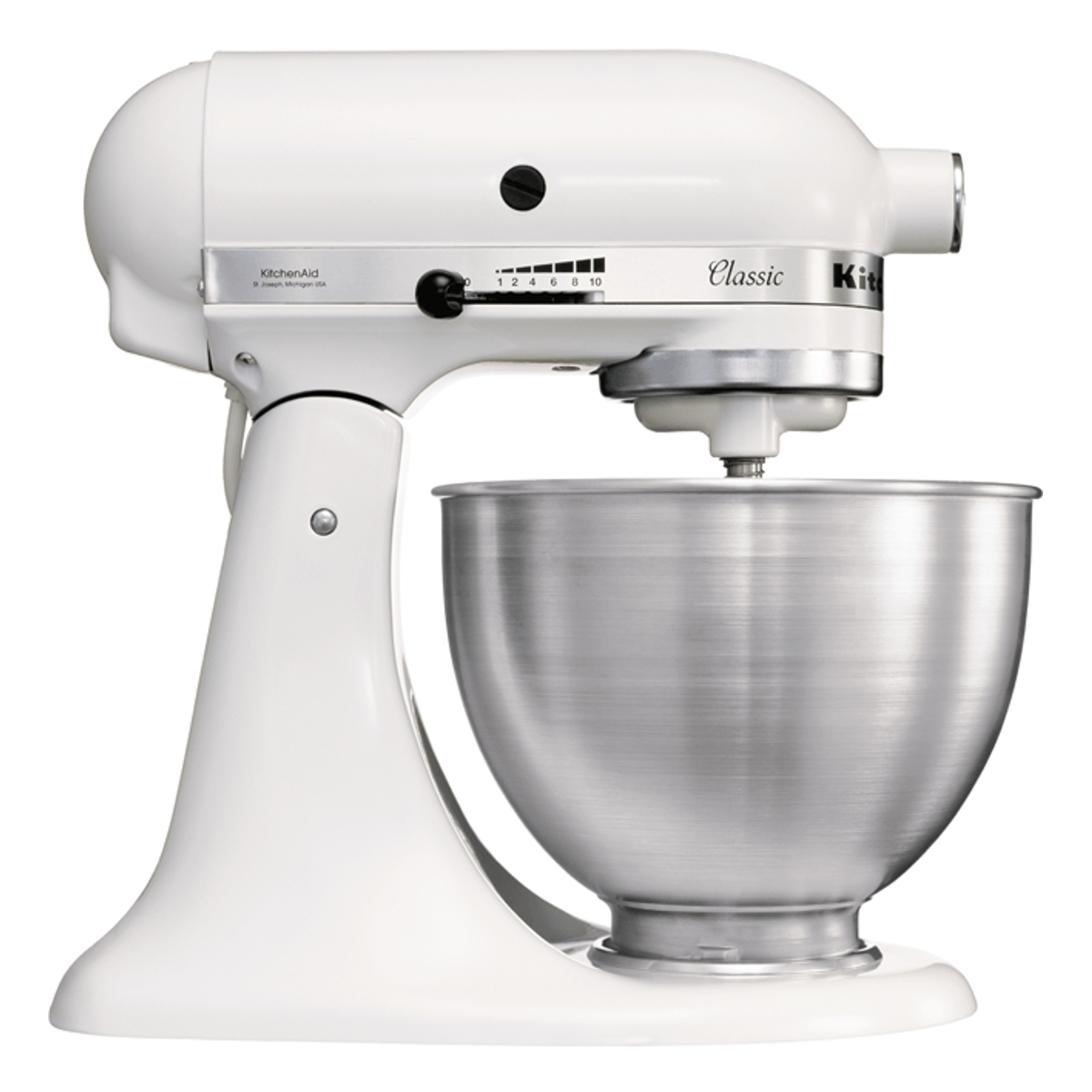 Kitchenaid 5K45SSBWH Classic Stand Mixer with 4.3L Capacity in White