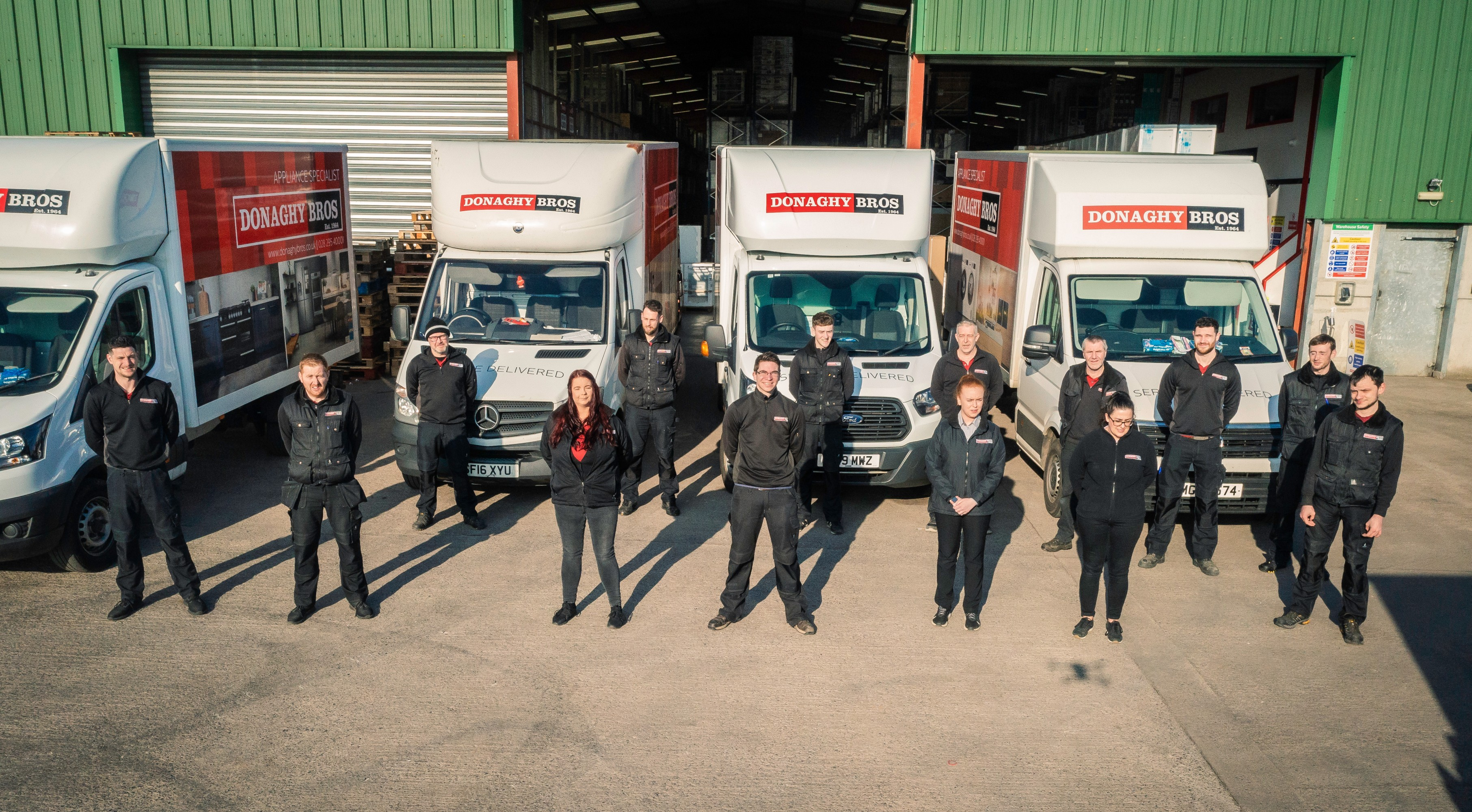 The Donaghy Bros Delivery and Warehouse Team